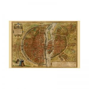 Paris, Map Maker - Georg Braun & Franz Hogenberg, 1572