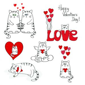 Cute cats in love