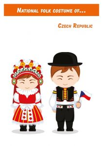 National folk costume of... Czech Republic