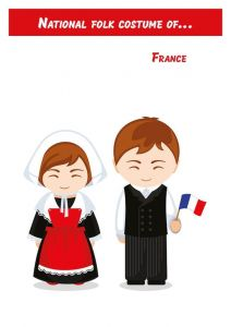 National folk costume of... France