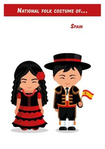 National Folk Costume of... Spain