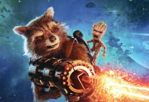 Guardians of the Galaxy. Rocket Raccoon and Groot