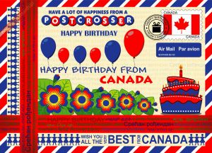 Happy Birthday from... Canada