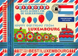 Happy Birthday from... Luxembourg