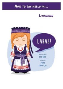 How to say hello in... Lithuanian