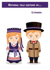 National Folk Costume of... Lithuania
