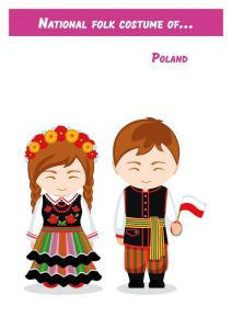 National folk costume of... Poland
