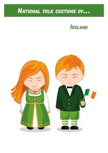 National folk costume of...Ireland