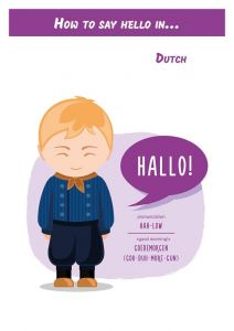 How to say hello in... Dutch