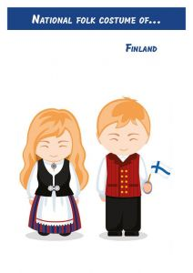 National folk costume of... Finland