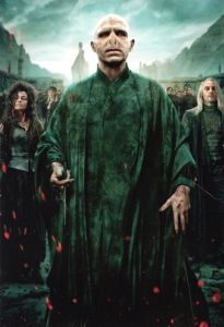 Harry Potter. Lord Voldemort, Bellatrix Lestrange and Lucius Malfoy