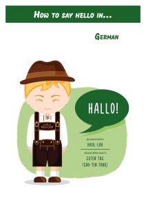 How to say hello in... German