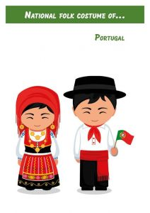 National folk costume of... Portugal