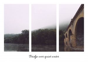 Bridge over quiet water