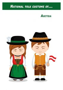 National folk costume of... Austria