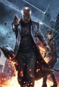 The Avengers. Nick Fury and Maria Hill