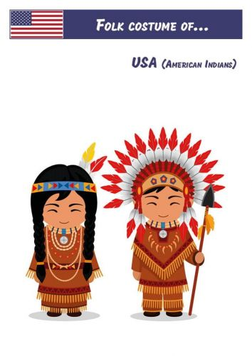 Folk Costume of... USA