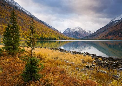 Multinskaya Autumn. Altai Republic, Srednee Multinskoe lake