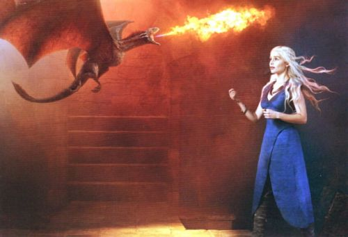 Game of Thrones. Daenerys Targaryen and Dragon